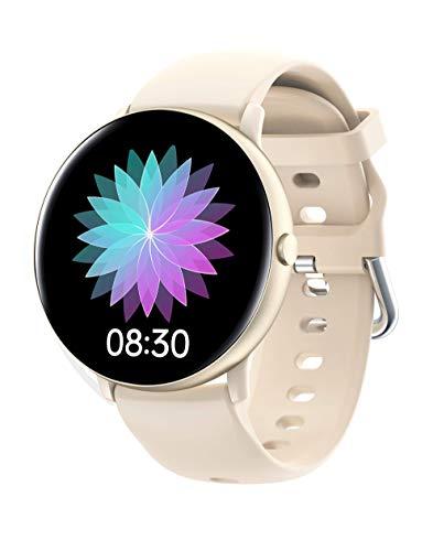 JINPXI Reloj Inteligente para Mujer,Smartwatch Mujer de Temperatura Corporal , Monitor de Ritmo Cardíaco en Tiempo Real, Pulsera de Actividad para Mujer,8 Modos desportes,cronómetro,Temporizador