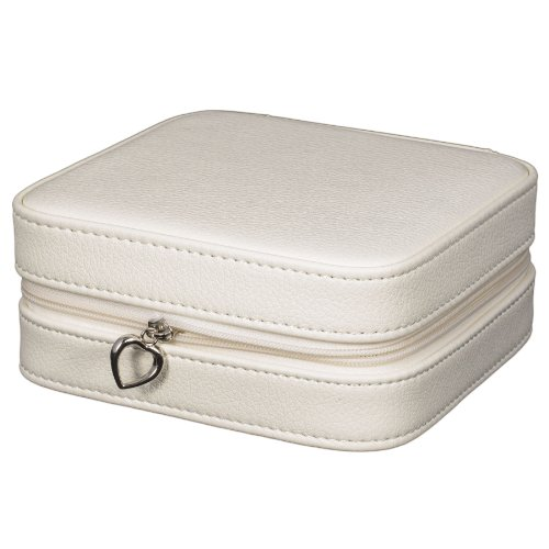 Mele & Co. Dana Travel Jewelry Case in Faux Leather (Ivory)
