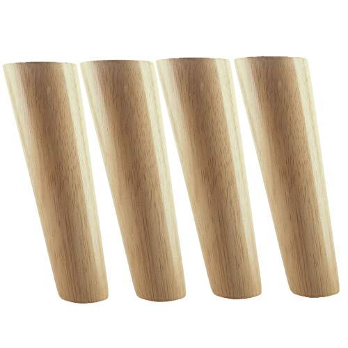 Oak Wood 60x100x40mm Altura Friable Pierna de Muebles Inclinados con Placa de Hierro Sofá Pie de Armario