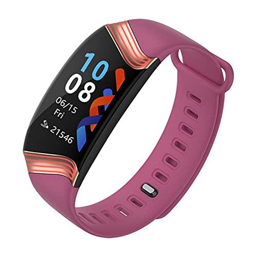 YYDM Sports Smart Watch, Rastreador De Actividad Impermeable IP67, Monitoreo De Frecuencia Cardíaca, Análisis De Datos De Ejercicios, Notificación Push De Llamada Y SMS,Rosado