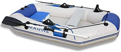 Kayak Inflable, Bote Inflable Engrosado Kayak 2/3/4 Persona Lancha motora Barco de Pesca Ligera Barco de Fondo Duro (Color: Blanco, Tamaño: 2m)