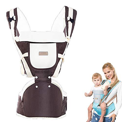 WDXIN Babytrage Bauchtrage Hüft Multifunktional Schulter Umarmung vorne Atmungsaktiv Baby Strap Baby Taille Hocker Strap,Brown