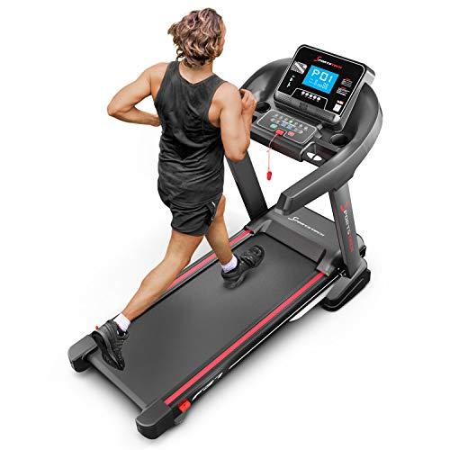 Sportstech F37 Profi Laufband 7PS bis 20 km/h, Selbstschmiersystem, Smartphone Fitness App, 15% Steigung, Bluetooth MP3, große Lauffläche mit 8 Zonen Dämpfungssystem bis 150 Kg - klappbar Bild