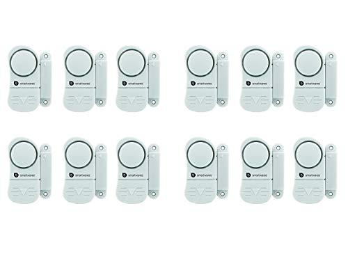 12er Set Alarm Mini Alarmanlage für Fenster Türen Schubladen, Fensteralarm, Türalarm
