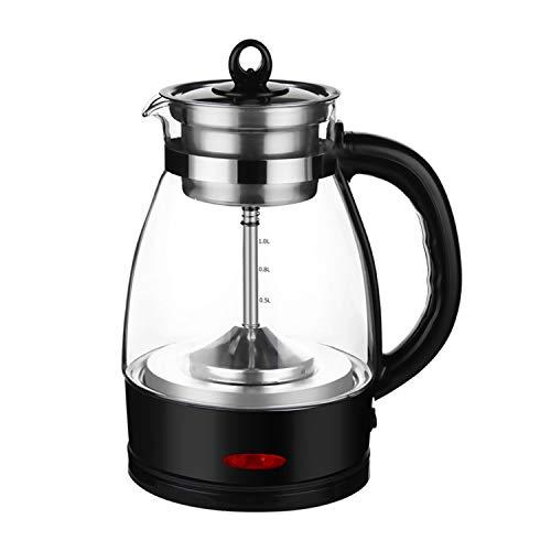 Teekocher Elektrisch 2 in 1-Tee-und Wasserkocher 1L Tea Maker Brüh-Funktion (Teeaufbereiter),Warmhaltefunktion Permanent Edelstahl-Teefilter (600W) A
