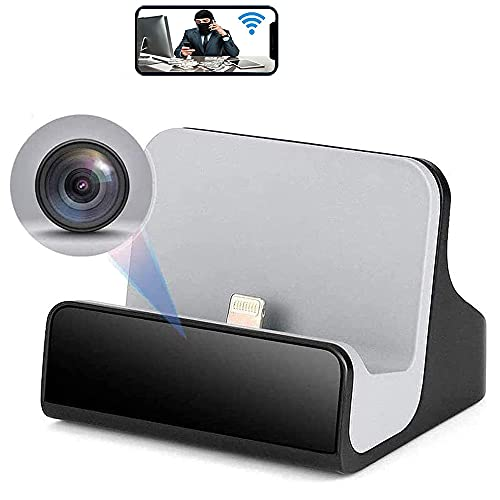 Spy Camera Hidden Camera 1080P for iPhone Charger Hidden Camera Nanny Cam USB Charger Camera Hidden Spy Cam with Motion Detection 1080P Full HD, WiFi, Cell Phone App ( for iPhone Charger)