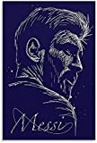 DPZAFL Posters para Pared Póster de Estrella de fútbol Lionel Messi, Cuadros artística de Pared, impresión, Poster de Decoracion de Dormitorio Familiar Moderno 50x70cm x1 Sin Marco