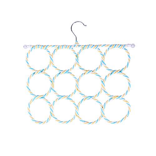 Zhaoyangeng 1 stuk multifunctionele sjaal opvouwbare 12-ring papier rotan handdoek beste ruimtebesparende kledinghanger houder rek closet organizer