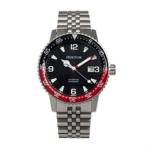 Heritor Dominic Automatic Silver Stainless Steel Bracelet Men's Watch with Date HERHR9804