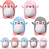 8 Pieces Mini Penguin Plush Toys Animal Stuffed Penguin Toys DIY Keychain Accessories Penguin Decorations for Birthday Baby Shower Xmas Wedding Party Favors, 4 Colors