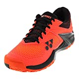 YONEX Power Cushion Eclipsion 2 Mens Tennis Shoe, Orange/Black (10.5)