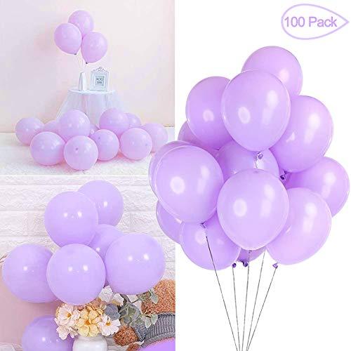 Sunshine smile Luftballons Pastell,Bunte Luftballons,Helium Luftballons,Latex Luftballons,Farbige Ballons,Partyballon,Dekorative Ballons für Hochzeit Weihnachten(100-PACK) (Lila)