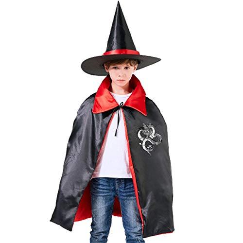 NUJSHF Capa con Capucha para niños con diseño de dragón Azteca Shenron Dragon Ball Z, Unisex, para Halloween, decoración de Fiestas, Disfraces de Cosplay