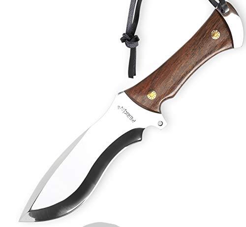 Perkin Knives jagdmesser feststehend mit Lederscheide