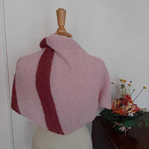 Tuch scarf Schal Schultertuch rosa Alpaka Seide gestrickt knitted alpaca silk Damen Mädchen