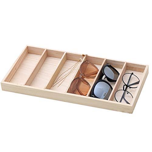 Sonnenbrillen Aufbewahrungsbox/Brille Display Tablett Moderner Bambus 6 Steckplätze