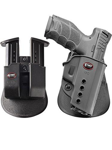 Fobus neu Pack VPQ verdeckte Trage Pistolenhalfter Halfter Holster + Doppel-Magazintasche für Heckler und Koch H&K VP9, USP Full Size, USP9 Expert/Walther PPQ 9mm, PPQ M2 9mm & .40cal ONLY