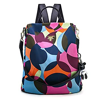 CONRUSER Womens Backpack Purse Waterproof Oxford Shoulder Bag Small Travel Bag Anti-theft Backpack