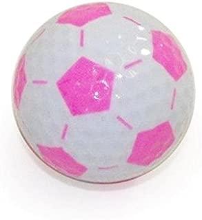 Golf Balls, Nitro Novelty Soccer Balls, 3 Pack, White/Pink