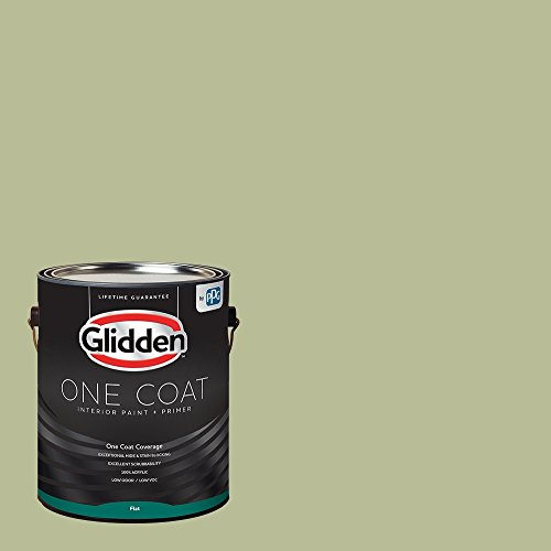 Glidden Interior Paint + Primer: Sage/Bahia Grass, One Coat, Flat, 1-Gallon