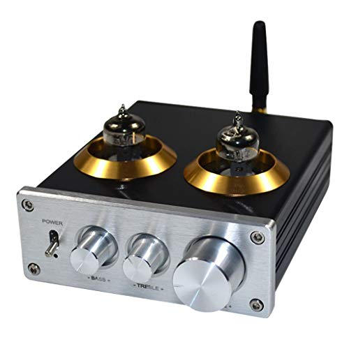New Baosity Portable HiFi 6J1 Value Tube Preamplifier Stereo Amplifiers Digital Treble & Bass Tone C...