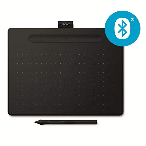 Wacom Intuos M Bluetooth Tableta digitalizadora 2540 líneas por Pulgada 216 x 135 mm USB/Bluetooth Negro - Tableta gráfica (Wired & Wireless, 2540 lpi, 216 x 135 mm, USB/Bluetooth, 7 mm, Pen)