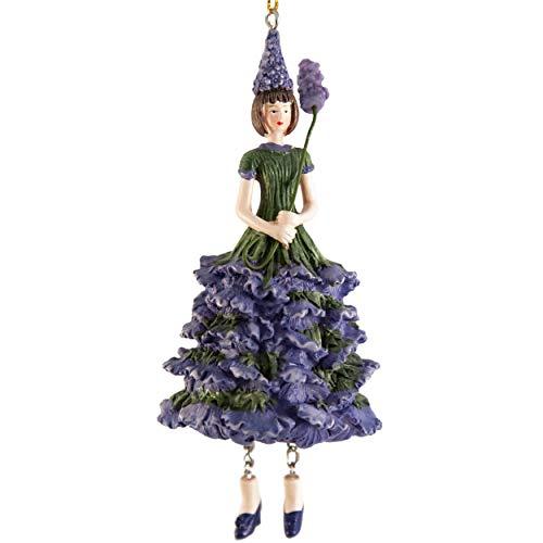ROSEMARIE SCHULZ Heidelberg Dekofigur Lavendelmädchen zum Hängen/Flower Fairy Figur/Dekofigur/Blumen Skulptur