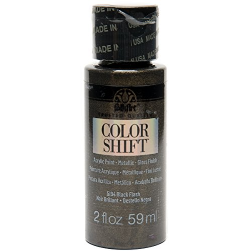 FolkArt Color Shift Acrylic Paint in Assorted Colors (2 ounce), Black Flash