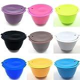 AVEE 1pcs 13 Colores Reutilizable Dolce Gusto de cápsulas de café, de plástico rellenables compatibles Dolce Gusto cestas de Filtro de café cápsulas