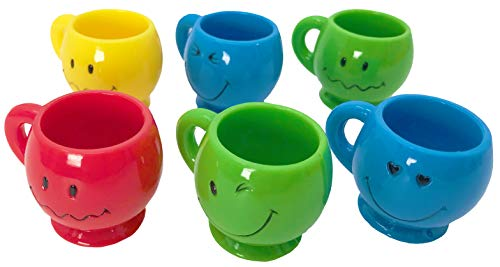 Bonka Bird Toys 1191 Pk6 Mini Smiley Mugs Bird Toy Parrot Parts Craft Plastic Chewy Forage Foot Play