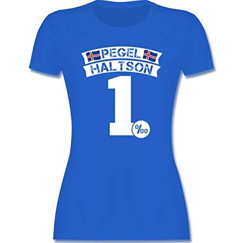 Karneval & Fasching - Pegel Haltson - L - Royalblau - Mallorca - L191 - Tailliertes Tshirt für Damen und Frauen T-Shirt