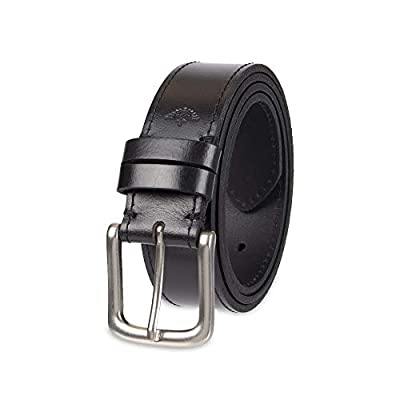 Dockers Men's Casual Leather Belt - 100% Soft Top Grain Genuine Leather Strap with Classic Prong Buckle, Black, 34