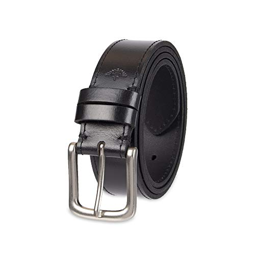 Dockers Men's Leather Belt with Prong Buckle, Black, 38