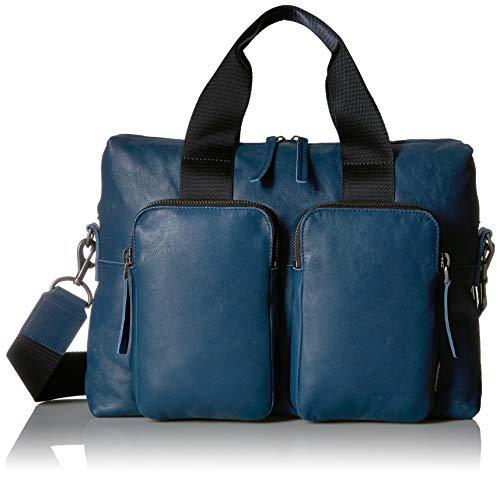 ECCO Unisex-Erwachsene Laptop Bag Casper, Laptoptasche, Retro Blau, Einheitsgröße