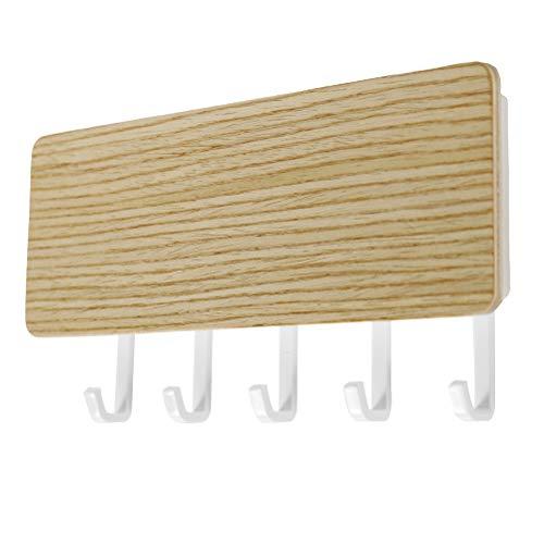 Stecto Schlüsselbrett mit ablage Holz, Dekoratives Holz Mail Schlüsselhalter Organizer Set, Perfektes Wohnaccessoire für jeden Wohnstil, 18x9.5x3.5cm