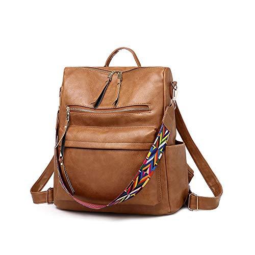 Damen Fashion Rucksack Geldbörse, wandelbarer Tagesrucksack, bunte Schulter-Handtaschen