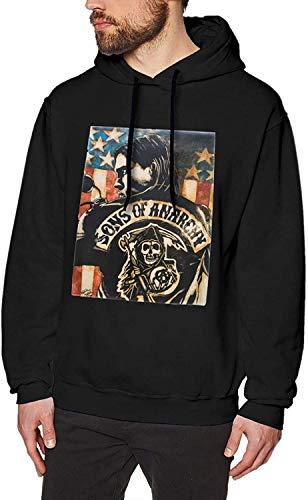YeeATZ Sons of Anarchy - Sudadera con capucha, diseño de Sons of Anarchy, color negro negro XXXL