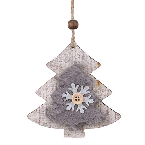 Toporchid Wooden Christmas Tree Star Bell Pendant Ornaments Decoration for Christmas Festival Decoration