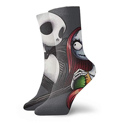 winterwang Impresión de arte artístico abstracto 3D Pesadilla antes de Navidad Art Vector Unisex Sport Elite Calcetines