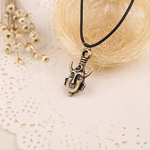 Naswi Supernatural Necklace Samulet Dean Winchester Jensen Ackles Amulet Bull Horn Pagan Buddha Pendant Vintage Jewelry SPN