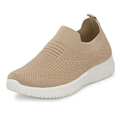 Flavia Women's Running Shoes Beige