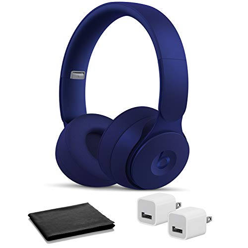 Beats Solo Pro Wireless Headphones - Dark Blue with USB Adapter Cubes