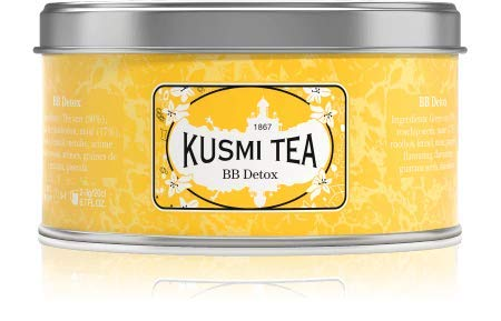 Kusmi Tea - BB Detox - Natural Green Tea with Yerba Mate, Rooibos, Guarana, Dandelion Infusion with a Hint of Grapefruit - 4.4oz of All Natural Premium Loose Leaf Green Tea in Metal Tin (50 Servings)