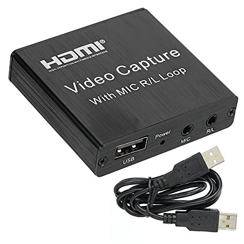 Esenlong HDMI de alta definición de vídeo USB de captura de video juego de tarjeta de transmisión en vivo y grabación para OBS caja de grabación 4K