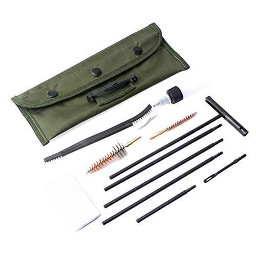 Herramientas de Limpieza de 11 PC/el Arma del Rifle de Limpieza del Kit del Limpiador .22cal Varilla de Limpieza Cepillo de Nylon Pistola Limpia Herramientas