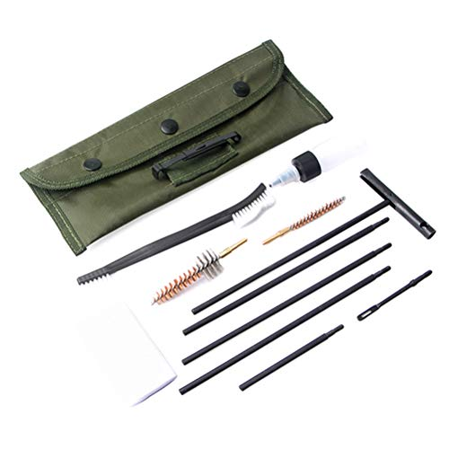 Borstu 11 Stück Waffen Reinigungsset Gewehr Gun Waffenpflege Set 22cal Putzstock Nylon Reinigungsbürste