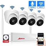 【2020 New】Wireless CCTV Camera System with Audio, ANRAN Home Security Camera System 4CH