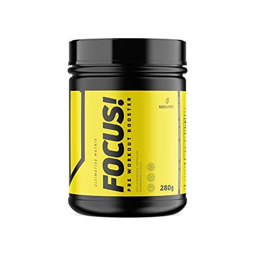 Neosupps Pre Workout Booster Focus 'Strawberry' / Trainingsbooster / 100% Fokus/mehr Kraft und Ausdauer/Konzentration beim Sport und Muskelmasse, Geschmack:Strawberry