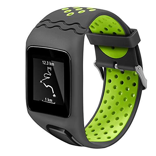 Voghtic - Cinturino in silicone compatibile con TomTom, cinturino di ricambio per Tom Runner, compatibile con orologio TomTom Multi-Sport Cardio
