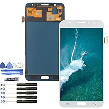 LCD Screen Replacement for Samsung Galaxy J7 2015 J700 J700T J700F J700H J700M SM-J700 LCD Touch Screen Display Digitizer Assembly  White